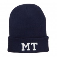 MT Montana State Embroidered Long Beanie - Navy