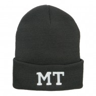 MT Montana State Embroidered Long Beanie - Dk Grey
