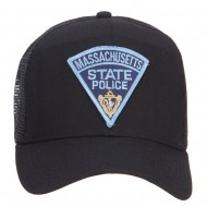 Massachusetts State Police Patched Mesh Cap - Black
