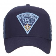 Massachusetts State Police Patched Mesh Cap1 - Navy