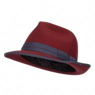 Women's Wool Felt Band Fedora - Apricot