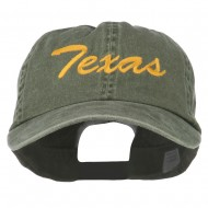 Mid State Texas Embroidered Big Size Washed Cap - Olive
