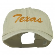 Mid State Texas Embroidered Big Size Washed Cap - Putty
