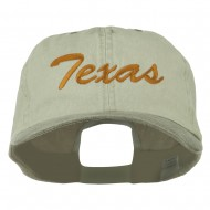 Mid State Texas Embroidered Big Size Washed Cap - Putty Brown