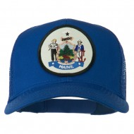 Maine State Patched Mesh Cap - Royal