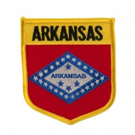 Mid State Flag Embroidered Patch Shield - Arkansas