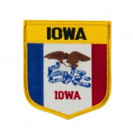 Mid State Flag Embroidered Patch Shield - Iowa