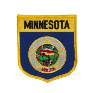 Mid State Flag Embroidered Patch Shield - Minnesota