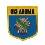Mid State Flag Embroidered Patch Shield - Oklahoma