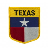 Mid State Flag Embroidered Patch Shield - Texas