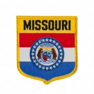 Mid State Flag Embroidered Patch Shield - Missouri