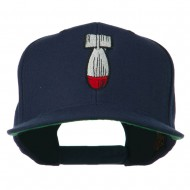 Missile Flat Bill Embroidered Baseball Cap - Navy