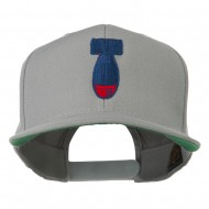 Missile Flat Bill Embroidered Baseball Cap - Silver