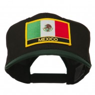 Mexico Flag Cotton Twill Pro Style Patched Cap - Green Black