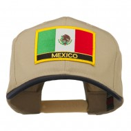Mexico Flag Cotton Twill Pro Style Patched Cap - Navy Khaki