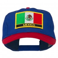 Mexico Flag Cotton Twill Pro Style Patched Cap - Red Royal