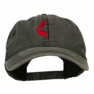 Methodist Church Cross Embroidered Washed Cap - Black