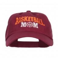 Basketball Mom Embroidered Low Profile Cap - Wine