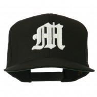 Old English 3D M Embroidered Cap - Black