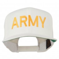 Army Military Embroidered Snapback Cap - Natural