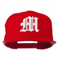 Old English 3D M Embroidered Cap - Red