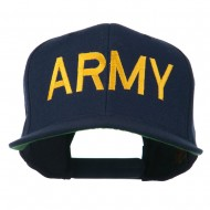 Army Military Embroidered Snapback Cap - Navy