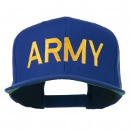 Army Military Embroidered Snapback Cap - Royal