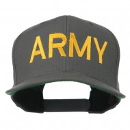 Army Military Embroidered Snapback Cap - Grey