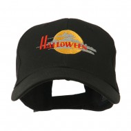 Halloween Moon Embroidered Cap - Black