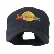 Halloween Moon Embroidered Cap - Navy