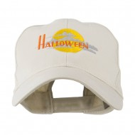 Halloween Moon Embroidered Cap - Stone