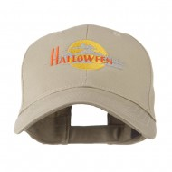 Halloween Moon Embroidered Cap - Khaki