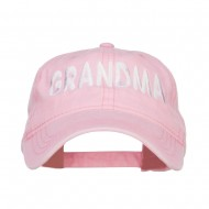 Grandma Embroidered Washed Cap - Pink