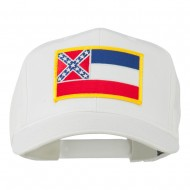 Eastern State Mississippi Embroidered Patch Cap - White