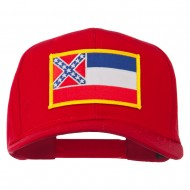 Eastern State Mississippi Embroidered Patch Cap - Red