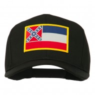 Eastern State Mississippi Embroidered Patch Cap - Black