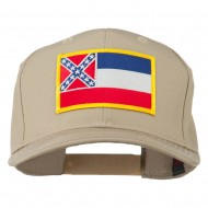 Eastern State Mississippi Embroidered Patch Cap - Khaki