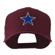 Mascot of Star with Outline Embroidered Cap - Maroon