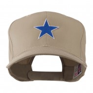 Mascot of Star with Outline Embroidered Cap - Khaki
