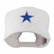 Mascot of Star with Outline Embroidered Cap - White