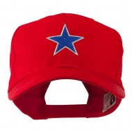 Mascot of Star with Outline Embroidered Cap - Red