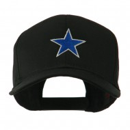 Mascot of Star with Outline Embroidered Cap - Black