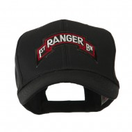 Military Related Text Embroidered Patch Cap - Ranger 1st