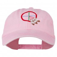 Medicine Wheel Embroidered Washed Cap - Pink