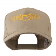 Original Airforce Military Wings Outline Embroidered Cap - Khaki