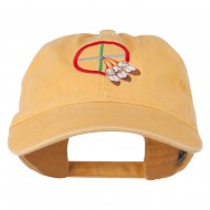Medicine Wheel Embroidered Washed Cap - Yellow