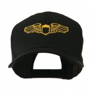 Original Airforce Military Wings Outline Embroidered Cap - Black