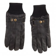 Men's Texting Leather Glove - Black