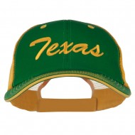 Mid State Texas Big Embroidered Mesh Cap - Kelly Gold