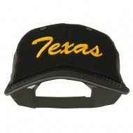 Mid State Texas Big Embroidered Mesh Cap - Black Grey